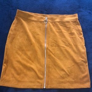 NWT Faux Suede Mini Skirt